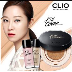 클리오 킬커버 리퀴드 파운웨어 쿠션 15g/ 본품+리필/ CLIO/ 색조화장품